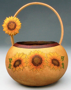 Gourd art by Christy Barajas