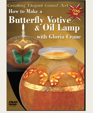 How to make a Butterfly Votive and a Butterfly Oil Lamp