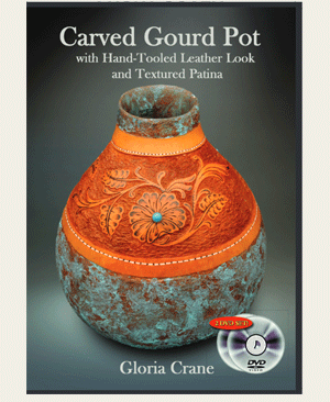 Gloria Crane's Carved Gourd Pot Class