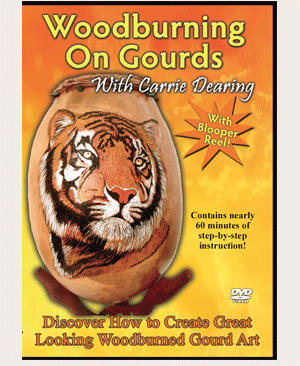Wood Burning On Gourds with Carrie Dearing