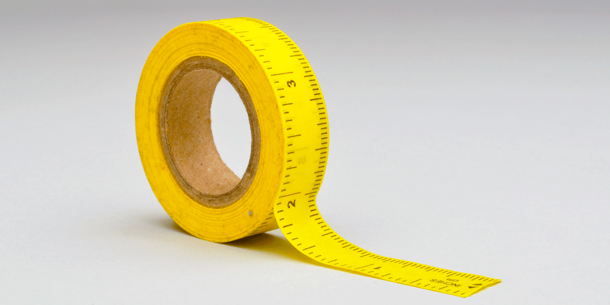 Sticky-Backed Measuring Tape