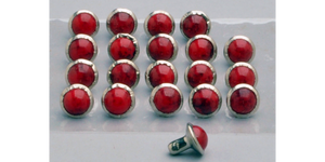 Red Stone Studs, Pack of 20 7mm