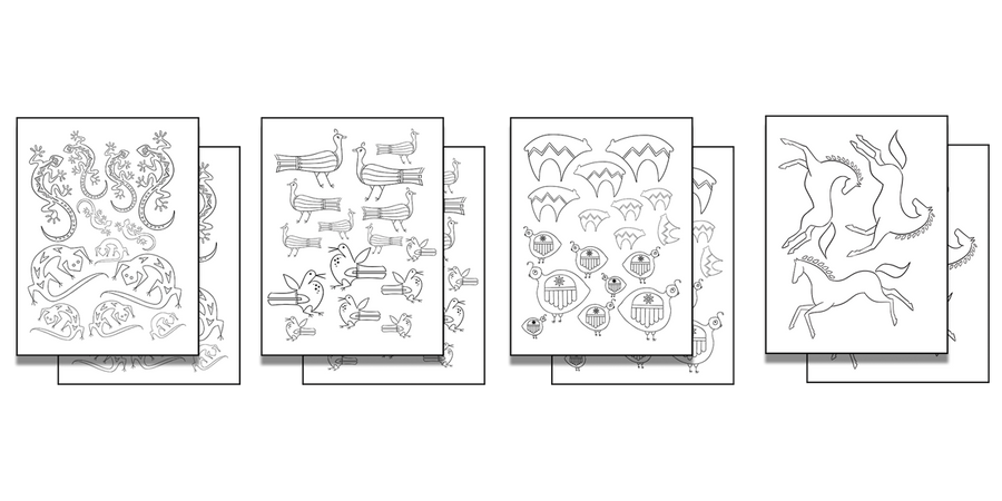 Stick 'n Burn Multiples: Southwest Animal Motifs Pack