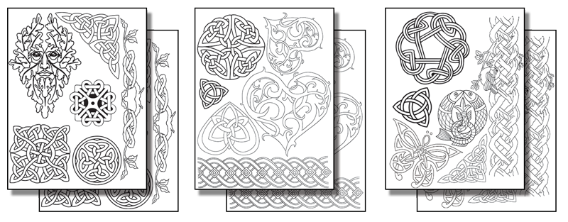 Stick 'n Burn Celtic Designs  Pack