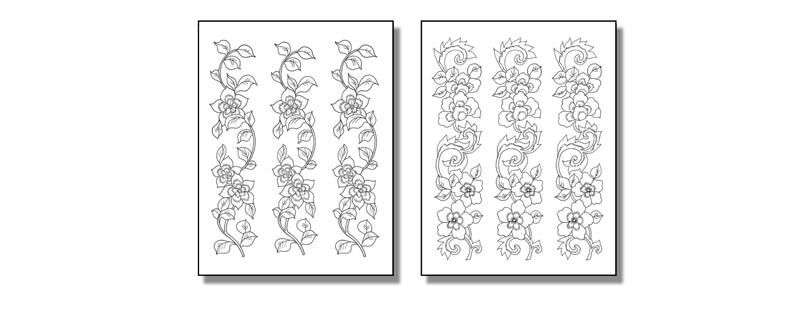 Stick 'n Burn Flower Vines Pack