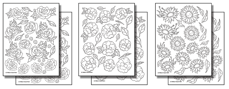 Stick N Burn Multiples Roses Pansies And Sunflowers Pack