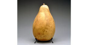A Large Size gourd fits in the 7-inch Metal Gourd Stand!