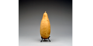 A Small Size gourd fits in the 3 inch Metal Gourd Stand!