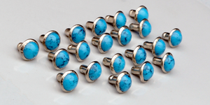 Faux Turquoise Studs, Pack of 20 7mm