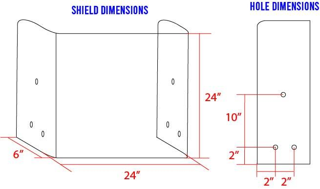 "24"" Mini Safety Shield Newfoundland Canvas No Opening 2 Angled"