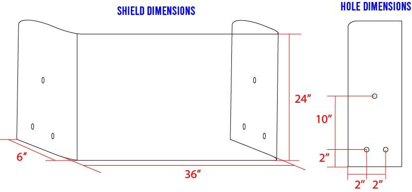 "36"" Mini Safety Shield Newfoundland Canvas No Opening 2 Angled"