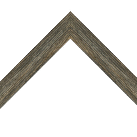 Thin Brown Barnwood Modern Living Frame Newfoundland Canvas