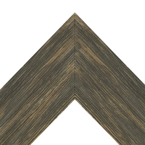 Wide Brown Barnwood Modern Living Frame Newfoundland Canvas
