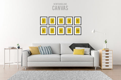 Heart's Delight Gallery Wall Newfoundland Canvas