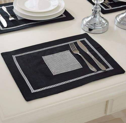 home 6pcslot 40x30cm modern luxury dinner tableware placemats for wedding party decoration dinning table - Kitchen Table Mats