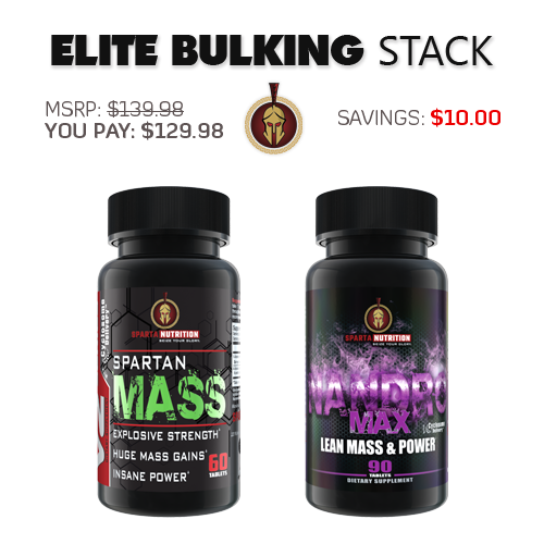 Sparta Nutrition Elite Bulking Stack,  Spartan Mass, NandroMax
