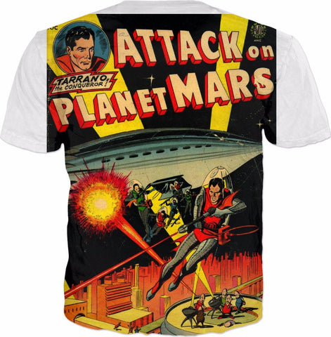 Comic Tee - Attack on Mars - HobnobStore