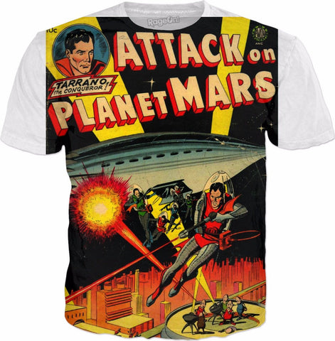Image of Comic Tee - Attack on Mars - HobnobStore