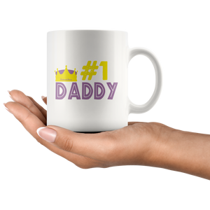 #1 Dad-White Mug - HobnobStore