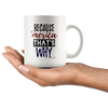 Image of Because America Thats Why-White Mug - HobnobStore