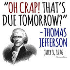 Image of Thats Due Tomorrow-Jefferson-White Mug - HobnobStore