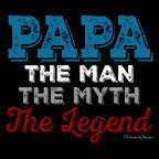 Papa The Man The Myth-Black Mug