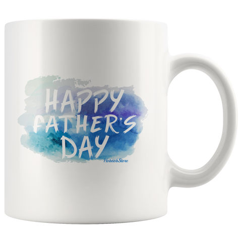 Image of Happy Fathers Day-White Mug - HobnobStore