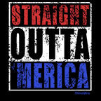 Straight Outta America-Black Mug