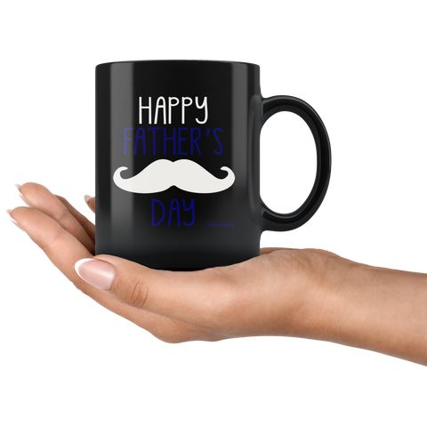 Image of Happy Fathers Day1-Black Mug - HobnobStore