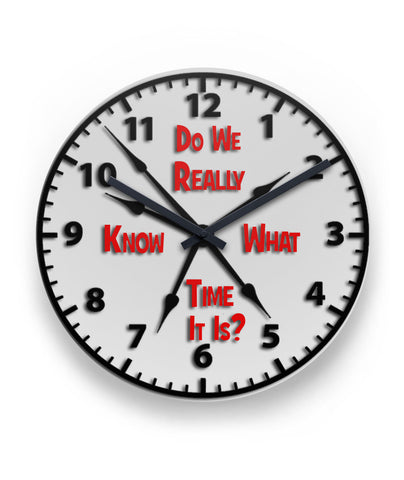Wall Clock-What Time Is It - HobnobStore