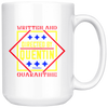 Image of Written And Directed By Quentin Quarantine-White Mug - HobnobStore