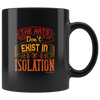 Image of Arts Dont Exist In Isolation-Black Mug - HobnobStore