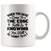 When You Have Come To The Edge Faith Is Knowing You Will Be Taught To Fly-White Mug