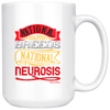 Image of National Isolation Breeds National Neurosis-White Mug - HobnobStore
