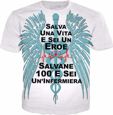 Save 100 Lives-Italian-Nurse T-Shirt - HobnobStore