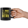 Image of Any Man Can Be a Father-Black Mug - HobnobStore