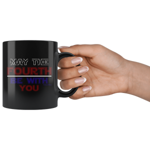 May The Fourth Be With You-Black Mug - HobnobStore