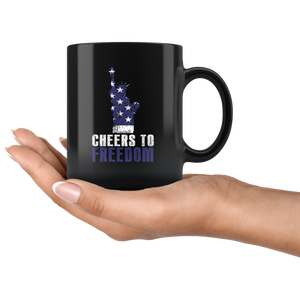 Cheers To Freedom-Black Mug - HobnobStore