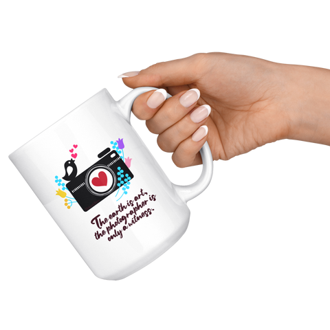 The Earth is Art Coffee Mug - HobnobStore