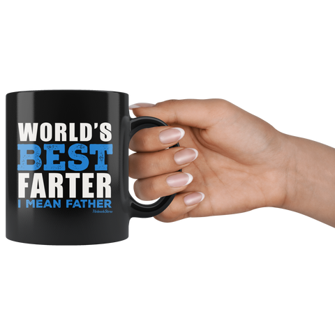 Worlds Best Farter-Black Mug - HobnobStore