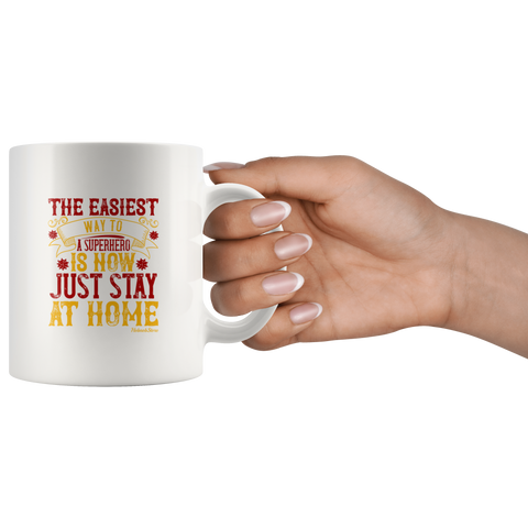 Way To Superhero Stay Home-White Mug - HobnobStore
