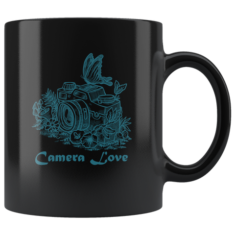 Camera Love - Black Mug - HobnobStore