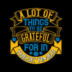 Lot Of Things To Be Grateful-Black Mug