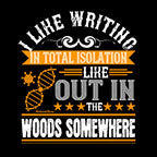 Writing Out In Woods-Black Mug - HobnobStore