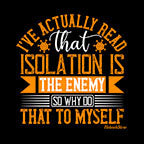 Isolation Is The Enemy-Black Mug - HobnobStore