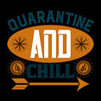 Quarantine And Chill-Black Mug