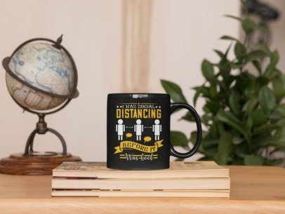 I Was Social Distancing Before It Was Cool-Black Mug - HobnobStore