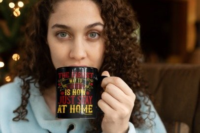 Way To Superhero Stay Home-Black Mug - HobnobStore