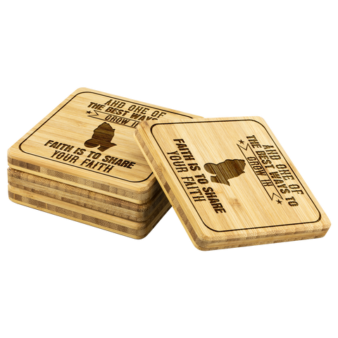 Image of And One Of The Best Ways To Grow In Faith Is To Share Your Faith-Square Coaster