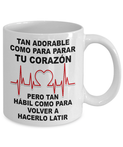 Cute Enough to Stop Heart-White Mug